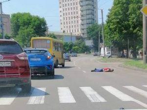 У Кропивницькому іномарка збила пішохода