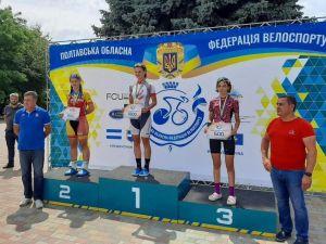Кропивницька велосипедистка виборола дві медалі на всеукраїнських турнірах
