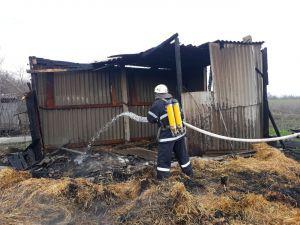 Кіровоградщина: У селі Березівка згорів сінник з тонною сіна
