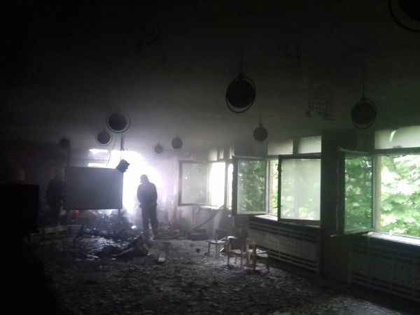 На Кіровоградщині загорілася актова зала у дитсадку