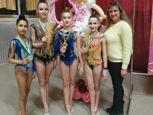 Кропивницькі гімнастки вибороли 15 медалей на турнірі у Білій Церкві