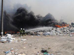 Кропивницький: Як ліквідовували пожежу на сміттєзвалищі (ФОТО)