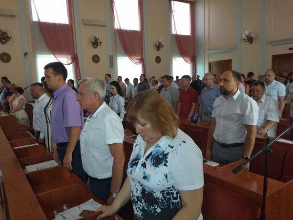 Сесія міської ради Кропивницького розпочалася з хвилини мовчання