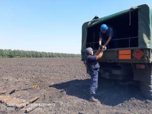 Сапери у Кіровоградській області знищили снаряди часів Другої світової війни