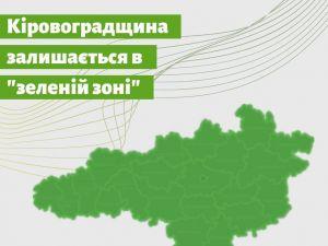 Кіровоградщина знову ввійшла до «зеленої» зони поширення коронавірусу