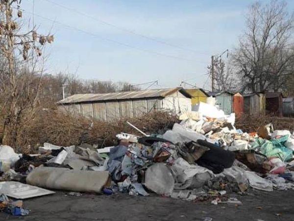 Кропивницький: На Полтавській не прибрали купу сміття (ФОТО. ВІДЕО)