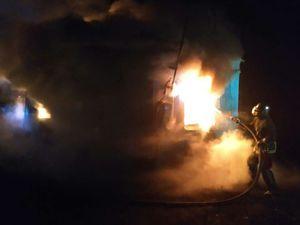 Кіровоградська область: Під час пожежі у металевій споруді знайшли тіло загиблого чоловіка