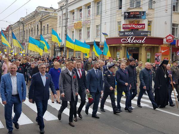 В громадській ході до Дня Перемоги на нацизмом взяли участь близько тисячі кропивничан (ФОТО)