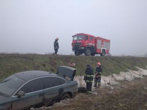 На Новгородківщині Volkswagen вилетів в кювет