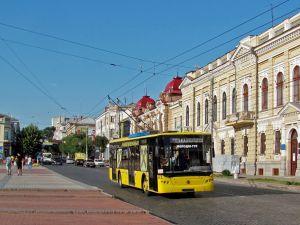 Кропивницький: Маршрутчик пошкодив тролейбус