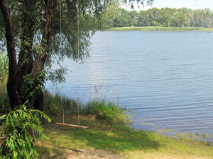 Коттедж «Днепр»  на берегу реки, недалеко от Светловодска.
