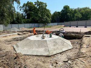 Кропивницький: На Фортечних валах бетонують постамент для прапора (ФОТО)