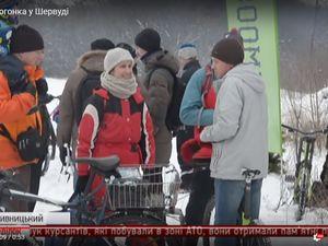 """Кропивницькі велогонщики потрапили у об'єктив 5 каналу: Снігова велогонка у """"Шервуді"""" (ВІДЕО)"""