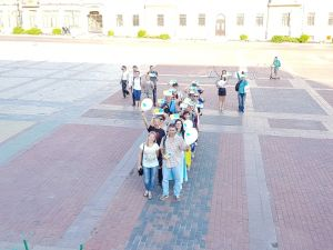 """Кропивничани утворили живу букву Ї на акції """"Мова об'єднує"""" (ФОТО.ВІДЕО)"""