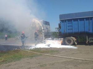 У Грузькому на Кіровоградщині зайнялася вантажівка
