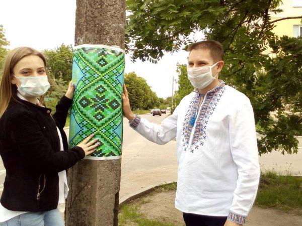 Кропивницький: У День Вишиванки українські візерунки прикрасили два мікрорайони міста