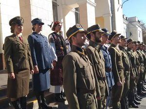 100 років історії: У Кропивницькому провели історичну реконструкцію прибуття Січових Стрільців (ФОТО, ВІДЕО)