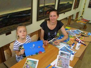 Художній музей навчає дітей об'ємної аплікації (ФОТО)