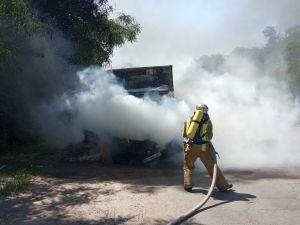 Кропивницький: Вогнеборці погасили займання вантажного автомобіля