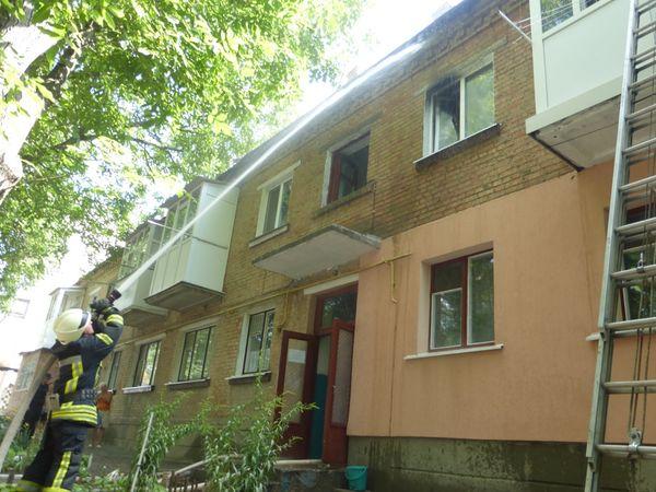 У Кропивницькому вогнеборці загасили пожежу у квартирі