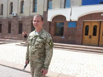 На центральній площі Кропивницького до громади звернувся кіборг (відео)